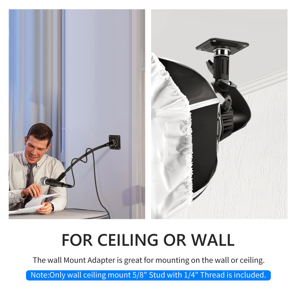 "Neewer Photography Photo Studio Video Wall Ceiling Mount 5/8"" Stud with 1/4"" Thread"