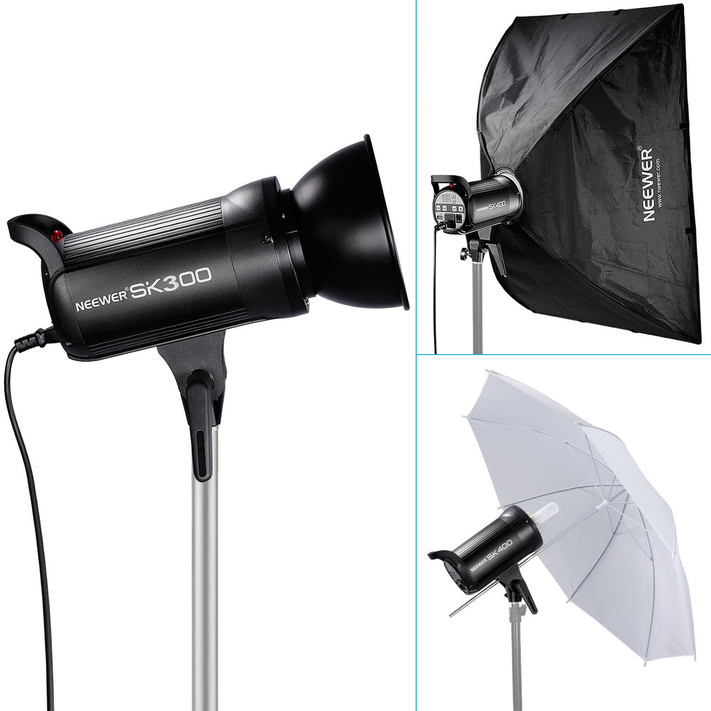 Neewer SK300 300W Studio Strobe Flash Monolight with Lamp Head,Bowens Mount - neewer.com