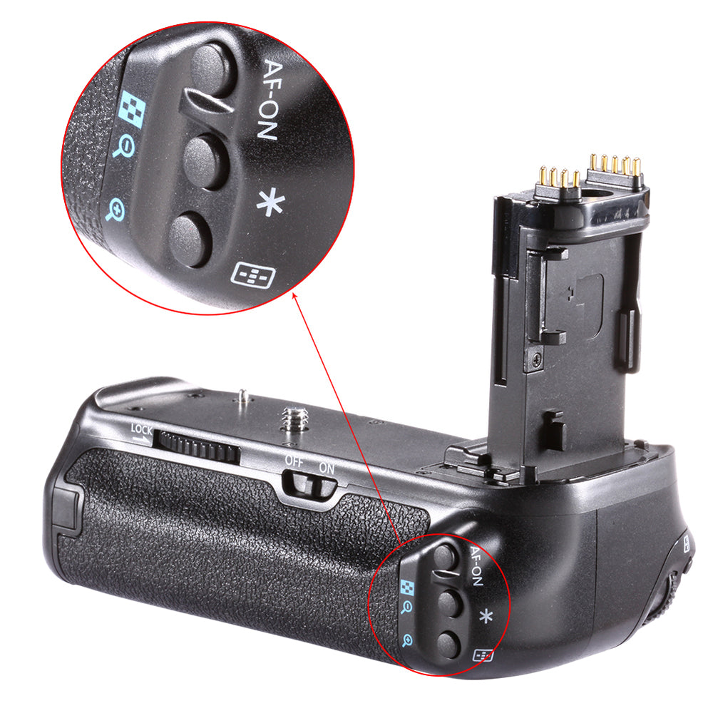 Neewer BG-E14 Replacement Battery Grip for Canon EOS 70D 80D - neewer.com
