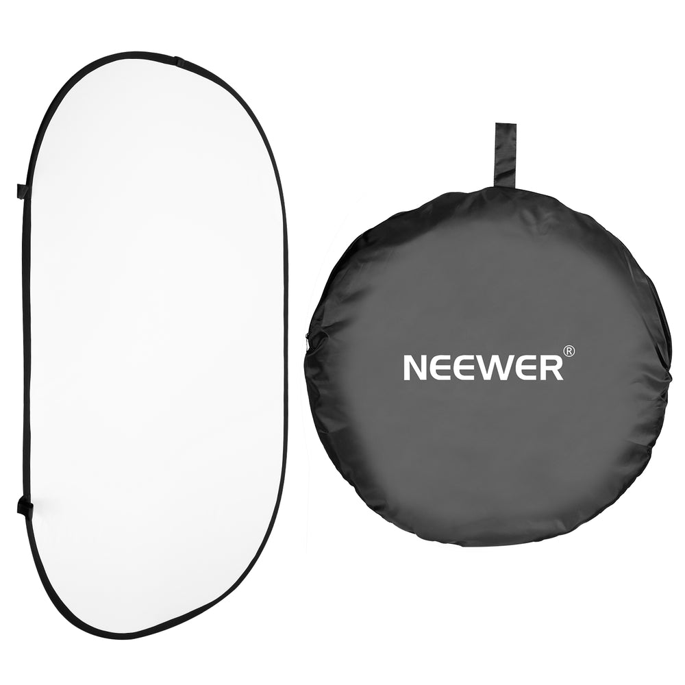 Neewer 5ft x 6.5ft/150cm x 200cm Background Panel (Black/White)