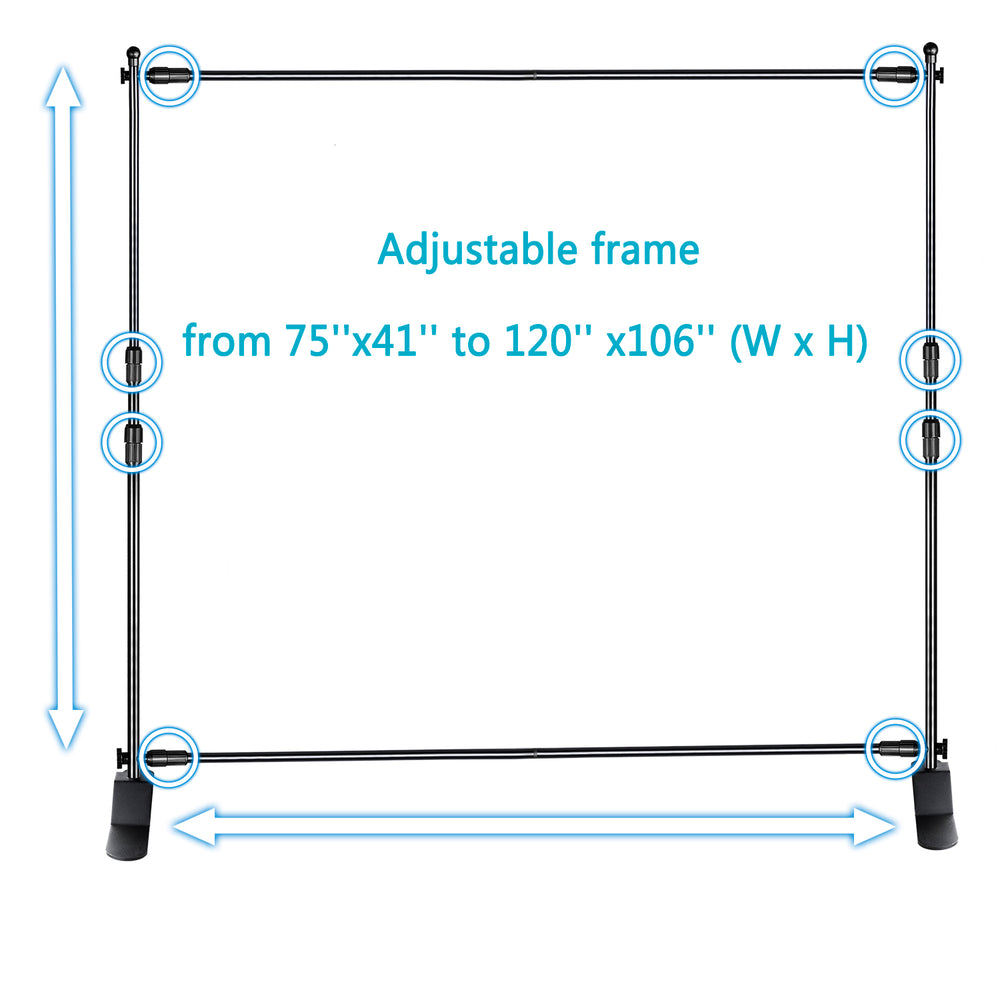 Neewer 10 x 8 feet Background Support Pole and Stand for Photography