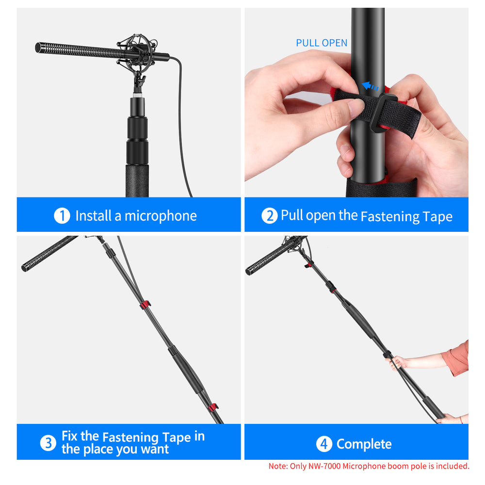 Neewer Portable Stretchable Handheld Microphone Boom Pole(NW-7000)