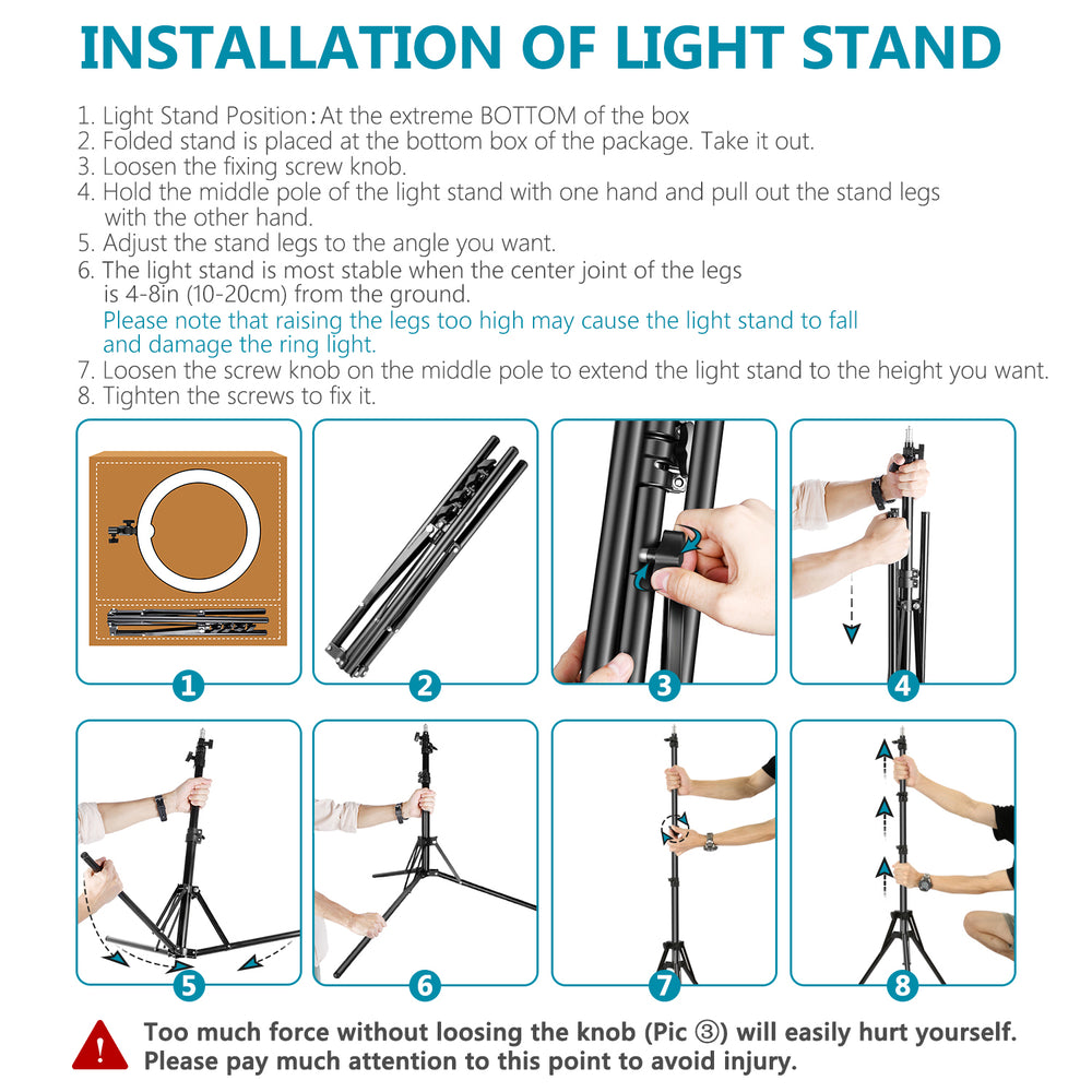 "Neewer 18"" Dimmable LED Ring Light and Stand Kit with Carrying Bag - neewer.com"