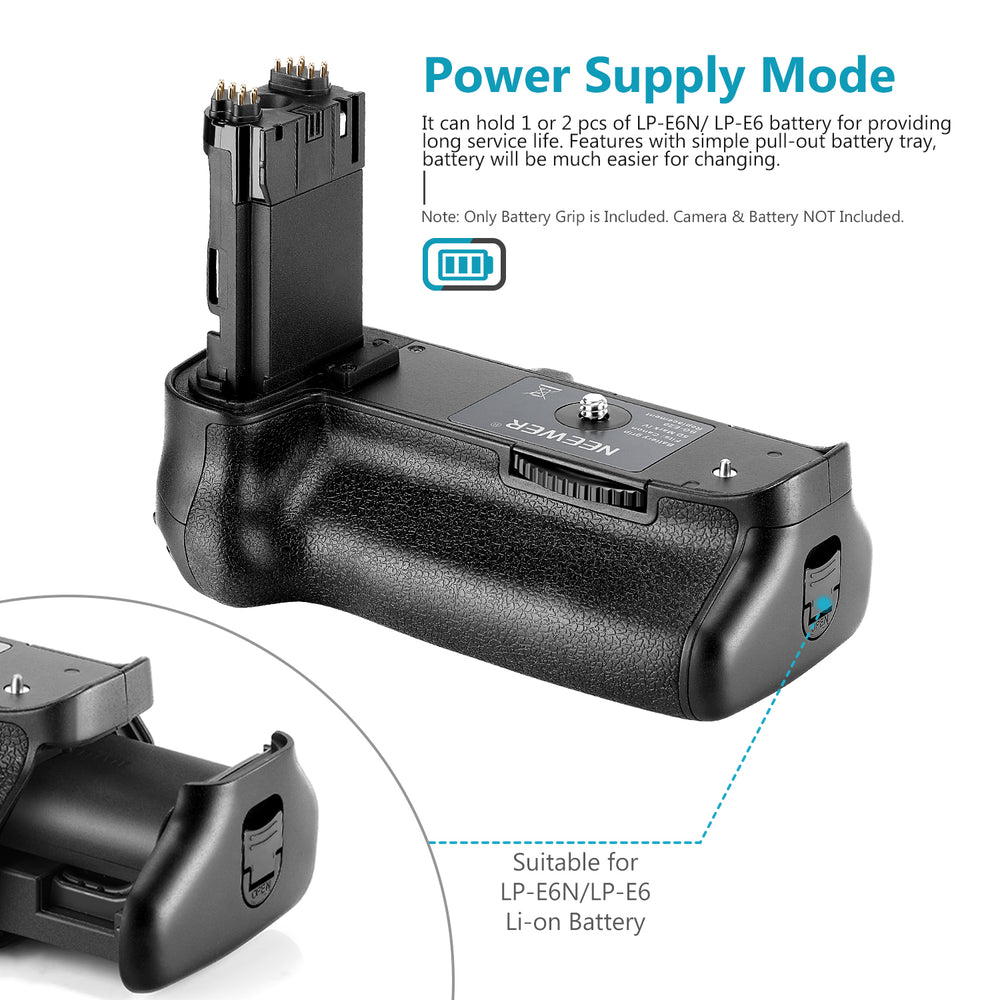 Neewer Battery Grip for Canon 5D Mark IV Camera, Replacement for Canon BG-E20, Compatible with LP-E6 LP-E6N Batteries