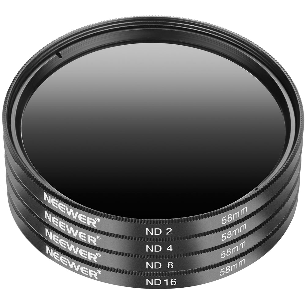 Neewer 52MM/58MM Neutral Density ND2 ND4 ND8 ND16 Filter Kit for Canon