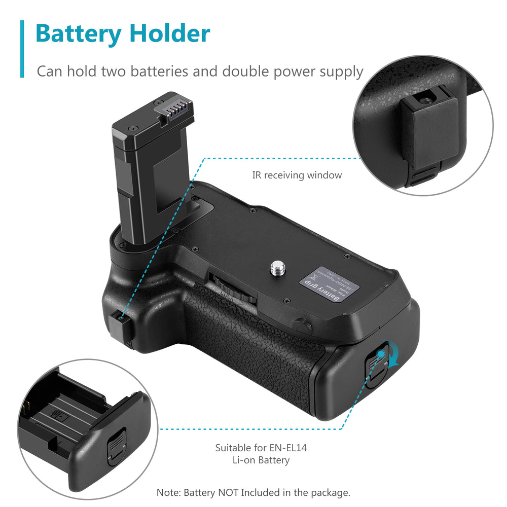 Neewer NW-D3400 Battery Grip for Nikon D3400 DSLR Camera