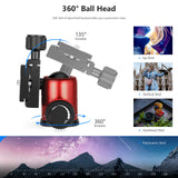 Neewer 20''/50cm Portable Compact Desktop Macro Mini Tripod(Red) - neewer.com