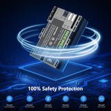 Neewer 2-Pack LP-E6 LP-E6N Battery Rechargeable Battery Charger Set for Canon