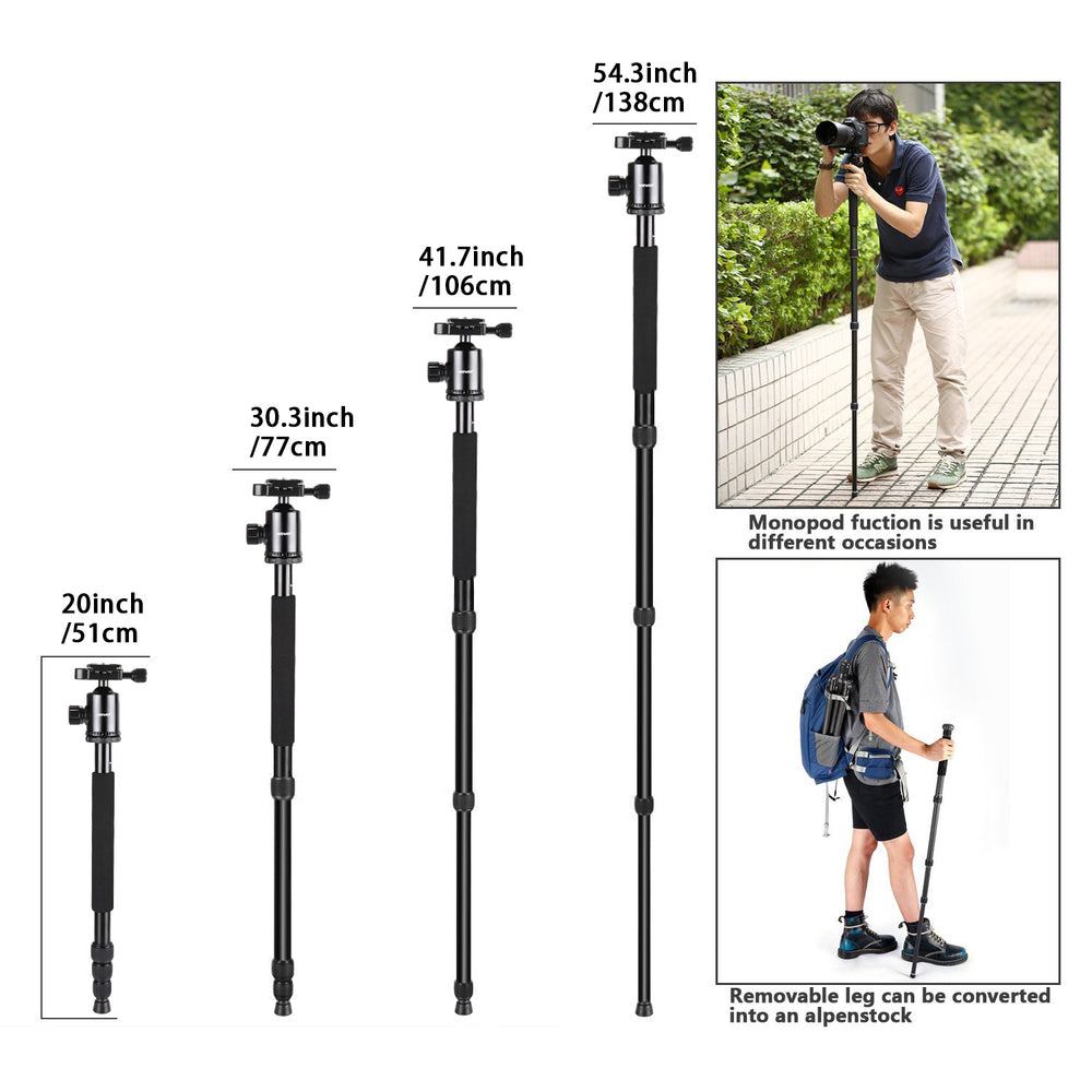 Neewer Aluminum Alloy 64 inches/162 Centimeters Camera Tripod Monopod - neewer.com