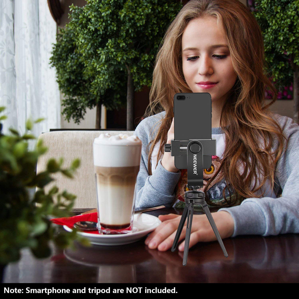 Neewer Smartphone Holder Vertical Bracket with 1/4-inch Tripod Mount