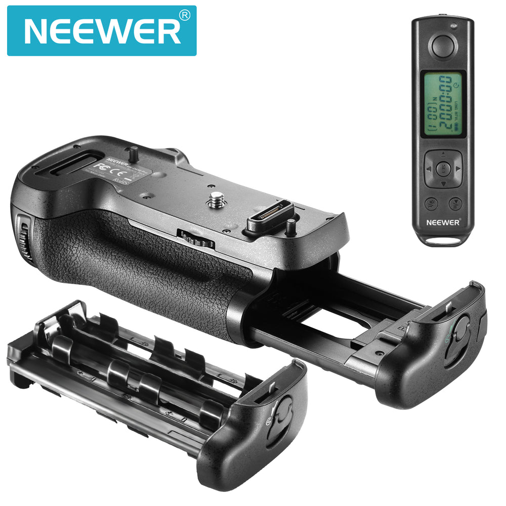 Neewer NW-D850 Vertical Battery Grip Replacement for MB-D18 with 2.4G Hz Wireless Remote Control for Nikon D850 Camera(Battery Not Included)