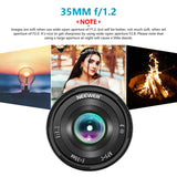 Neewer 35mm F1.2 Large Aperture Prime APS-C Aluminum Lens for Sony - neewer.com