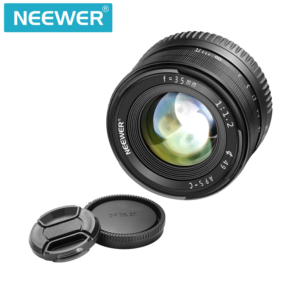 Neewer 35mm F1.2 Large Aperture Prime APS-C Aluminum Lens for Sony