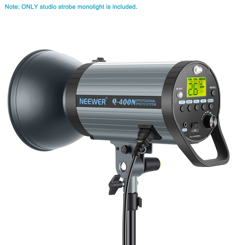 Neewer Q400N 400W GN65 Studio Strobe Monolight with Trigger,Modeling Lamp,Bowens Mount - neewer.com