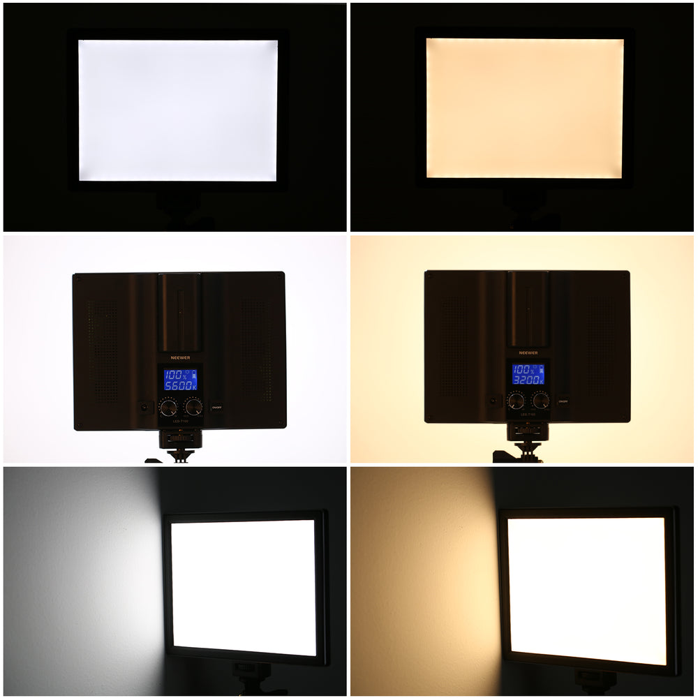 Neewer Camera/Camcorder Ultra Thin Dimmable Bi-color LED Light Panel - neewer.com