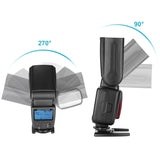Neewer NW580 Wireless Flash Speedlite for DSLR Cameras with Standard Hot Shoe, with LCD Display, 2.4G Wireless System and 15 Channel Transmitter
