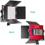 Neewer Red Dimmable Bi-color 660 LED Video Light with U Bracket and Barndoor - neewer.com