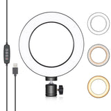 "Neewer 6"" Desktop Mini USB Camera LED Ring Light with 3 Light Modes and 11 Brightness Level (no stand) - neewer.com"