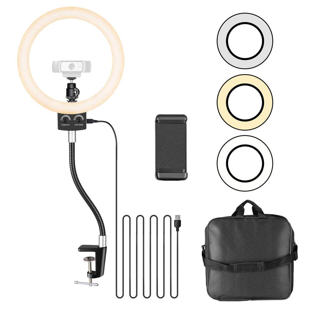 "Neewer dimmable 8.9"" USB LED Ring Light for Logitech Webcam - neewer.com"
