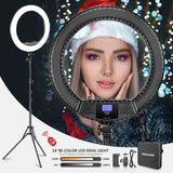 Neewer RL-18II/RL-18B Two Tone 18 inches LED Ring Light with Stand and Carrying Case for Live Stream