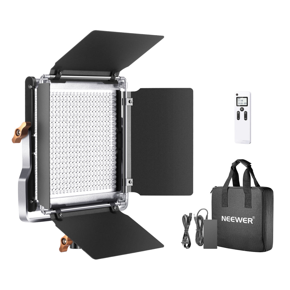 Neewer Advanced 2.4G 480 LED Video Light, Dimmable Bi-Color LED Panel with LCD Screen and 2.4G Wireless Remote