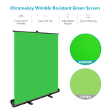 Neewer Green Screen with Crossbar fixing arm, 58x72inches Collapsible Chroma Key Panel