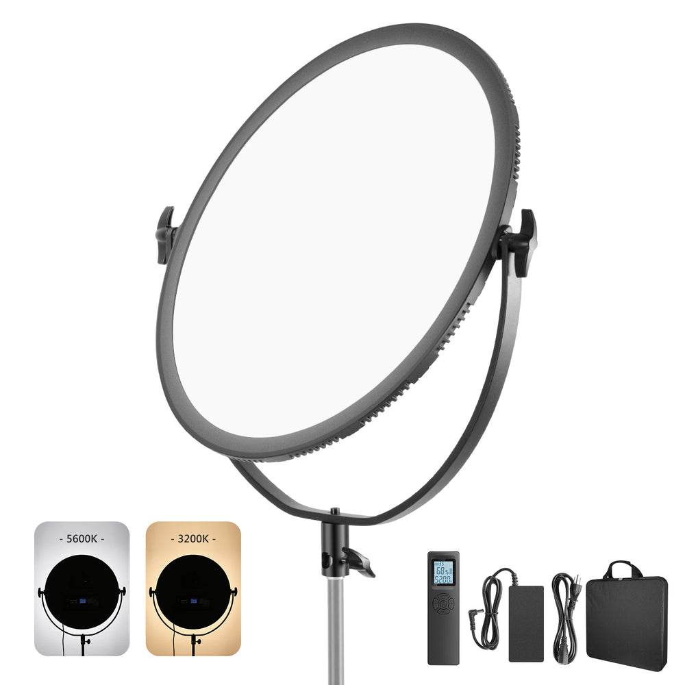 Neewer LED Bi-Color Studio Round Lighting, Ultra Thin Studio Edge Flapjack Light