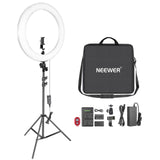 "Neewer 20"" Big Dimmable Bi-color Outdoor Photography Ring Light Kit"