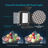 Neewer Advanced 2.4G 660 LED Video Light, Dimmable Bi-Color LED Panel with LCD Screen and 2.4G Wireless Remote