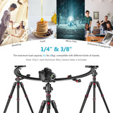Neewer Camera Slider and Camcoder Slider 67 Inches Long/180 Degree 1/2 Round Circle Dolly Smooth Track