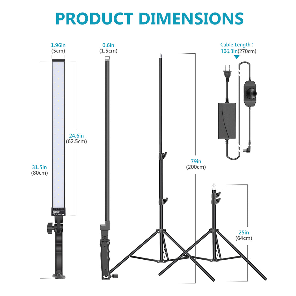 Neewer LED Light Wand Studio LED Lighting Kit