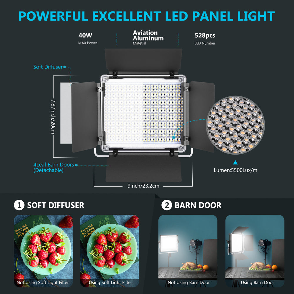 Neewer 528 LED Video Light with APP Intelligent Control System