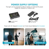 Neewer Dimmable 1904 LED Video Light for Studio Portrait Product Video Shooting (Battery Not Include)