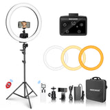 Neewer Advanced 2.4G Remote 18-inch LED Ring Light Support Manual Touch Control with LCD Screen (Black)