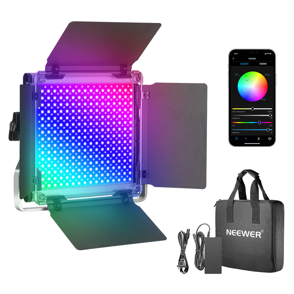 Neewer 480 RGB Led Light with APP Control Metal Shell for Photography