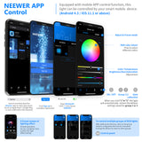 Neewer 2 Packs 480 RGB Led Light with APP Control Metal Shell for Photography