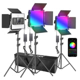 Neewer 3 Packs 530 RGB LED Panel Lights