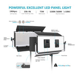 Neewer Advanced 1920 LED Dimmable Video Light with Barndoor (US Plug)