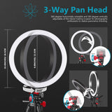 Neewer 10-inch LED Ring Light Selfie Ring Light Kit with Tripod Stand