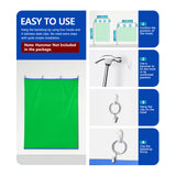 Neewer Chromakey Green/Blue Screen 2-in-1 Curtain Backdrop with 4 Hooks and 4 Clips