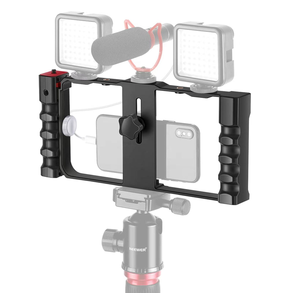 Neewer Smartphone Video Plastics Rig Stabilizer, 3 Cold Shoe &Tripod Mount