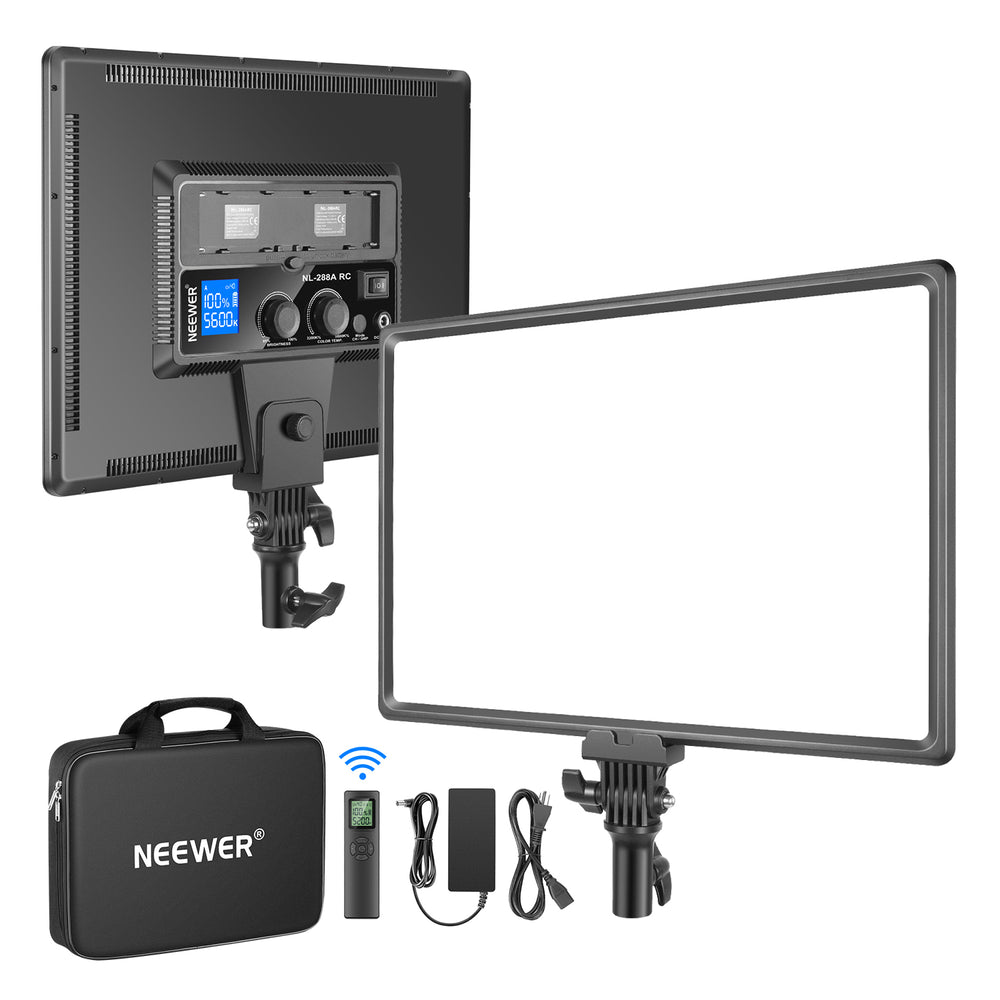 Neewer 288 Large LED Video Light Panel with 2.4G Remote Control(Battery Not Included)