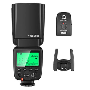 Neewer NW655-C 2.4G HSS 1/8000s TTL GN58 Wireless Master Slave Flash Speedlite with Trigger Compatible with Canon
