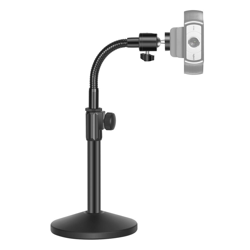 Neewer Webcam Stand - Flexible Desktop Stand with Gooseneck and Ball Head Adapter Compatible with Logitech Webcam