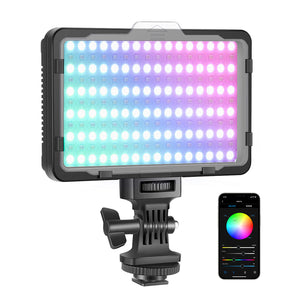 Neewer RGB 176 Video Light with APP Control, 360° Full Color Led Camera Light