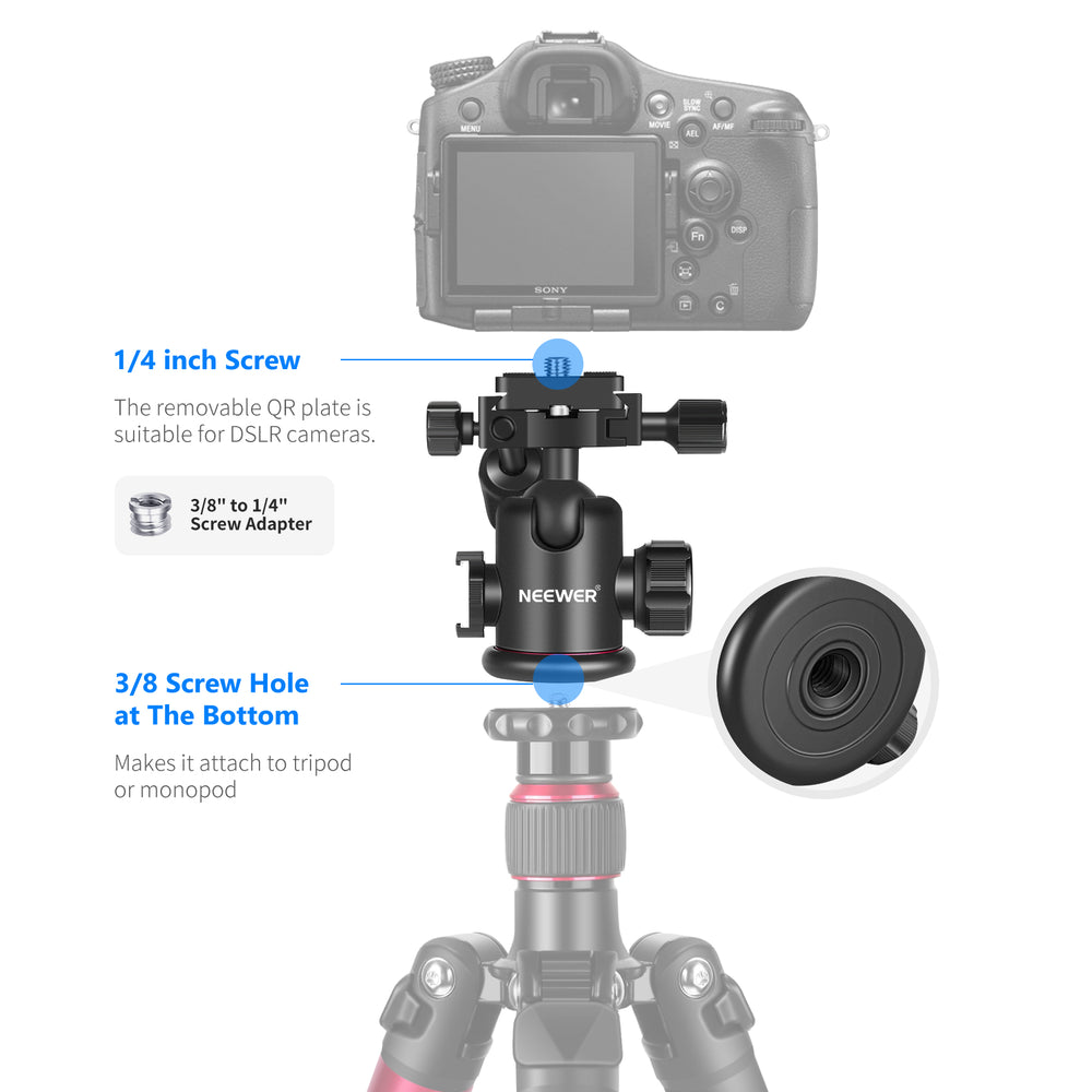Neewer Tripod Head and Accessories