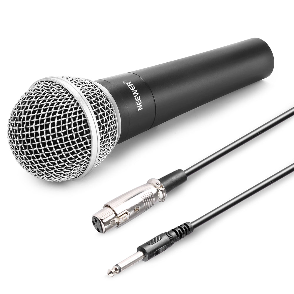 Neewer Zinc Alloy Black Moving Coil Handheld Dynamic Microphone