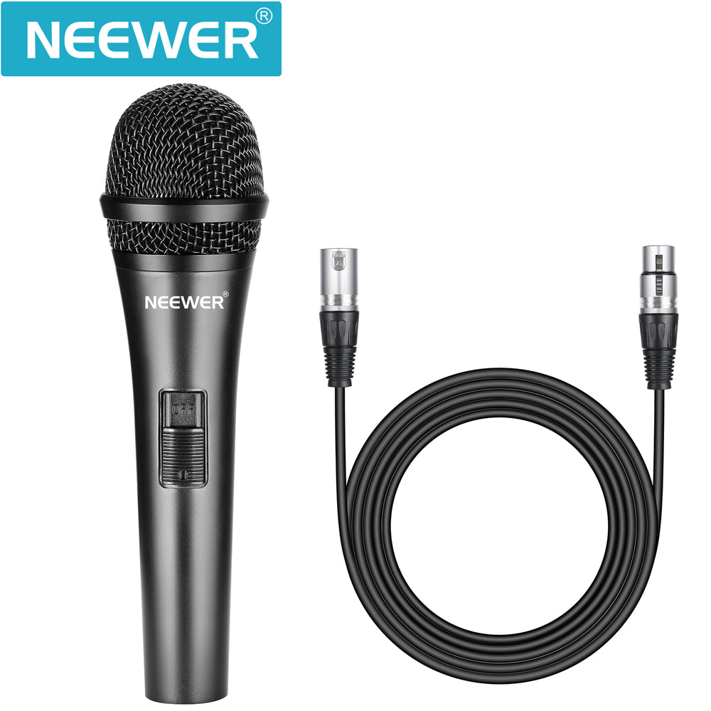 Neewer NW-040 Cardioid Dynamic Microphone with Cable (Black)