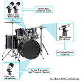 Neewer 7 Piece Wired Dynamic Drum Mic Kit for Drums, Vocal(NW-7)
