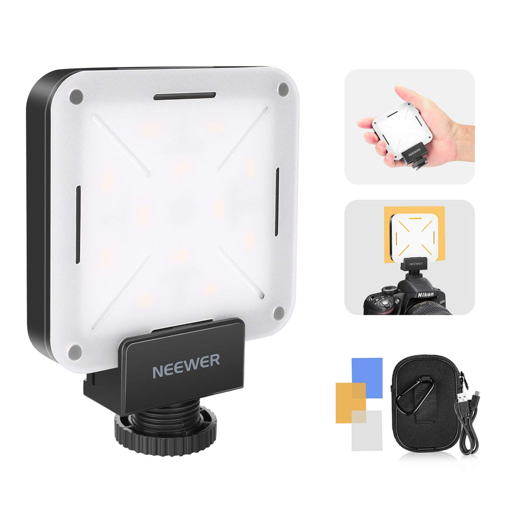 Neewer 12 SMD CRI 95+ LED Bulb Mini Pocket-Size On-Camera LED Video Light